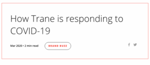 How Trane is responding to COVID-19
